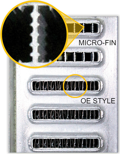 extruded micro-fin