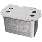 190109 Oil Cooler - Engine Mounted - International / Navistar - 8 x 4 3/8 x 5 1/8