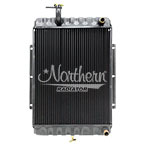 233004 Apu Radiator (CBR) With Fill Neck For Semi Trucks - 16 7/16 x 13 1/16 x 1 1/4 Core