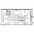 237002 International / Navistar Surge Tank - 14 5/8 x 6 5/8 x 4 1/4