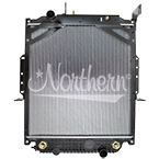 238644 Freightliner / Thomas Bus Radiator - 27 7/16 x 25 1/16 x 2 1/16 (With Frame)