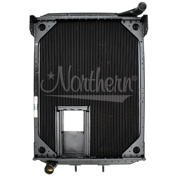 238683 AuTOCar Radiator - 37 15/16 x 27 9/16 x 3 1/8 (With Crank Box)