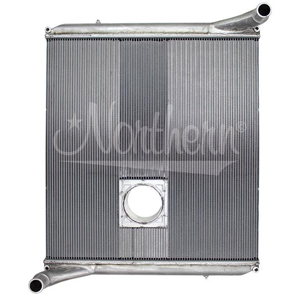 238700 Autocar Aluminum Radiator - 36 7/16 x 34 7/8 x 2 (With Crank Box)