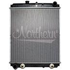 239069 Hino Radiator - 27 1/2 x 25 11/16 x 1 1/2 (PTR w/ Cooler)