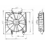600380 Radiator Fan Assembly