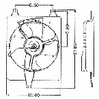 610060 Condenser Fan Assembly