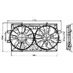 620160 Radiator / Condenser Fan Assembly