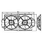 620190 Radiator / Condenser Fan Assembly