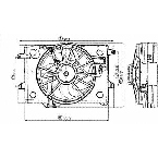 620680 Radiator / Condenser Fan Assembly