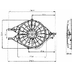 620880 Radiator / Condenser Fan Assembly