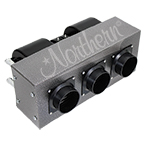 AH545 High Output 30,000 Btu Auxiliary Heater - 16 x 6 1/2 x 9 - 12 Volt