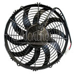 BM346975 12 Inch Puller Curved Blade Cooling Fan w/o Weather Pack Connector