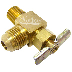 RW0008-01 Draincock-Brass - International Truck - 1/4 Npt x 3/8 Sae Flare 90 Degree