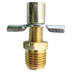RW0008-9 Draincock - Brass -  With Hose Fitting  1/4 Inch Npt - 25 Pk