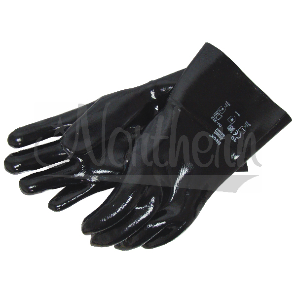 RW0012 12 1/2 Inch Black Pylox Coated Gloves - Pair