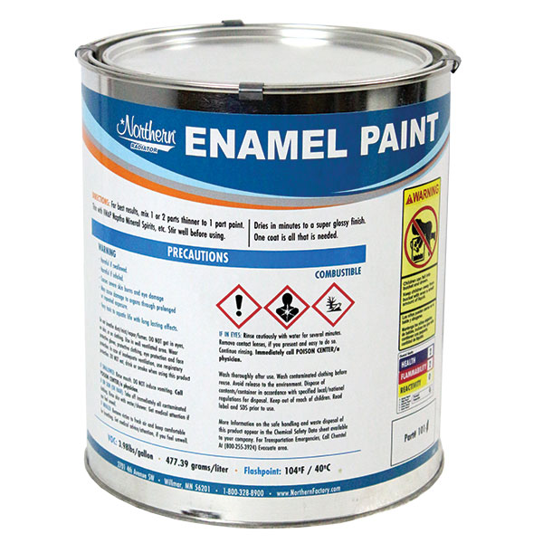 RW0101-1 Black Enamel Paint- 1 Gallon