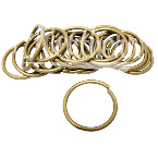 RW0179-5 1 3/8 Inch Brass Reinforcement Rings - 20 Pk