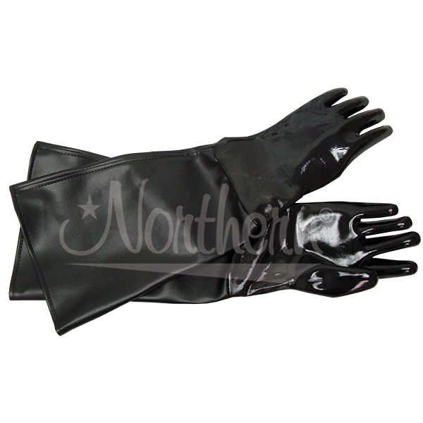 RW0345-12 23 Inch Black Neoprene Blast Glove, Cotton Lined (Pair)