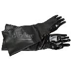 RW0345-12 23 Inch Black Neoprene Blast Glove, Cotton Lined (Pair)
