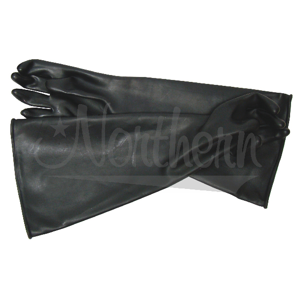 RW0345-45 23 Inch Black Rubber Blast Glove (Pair)