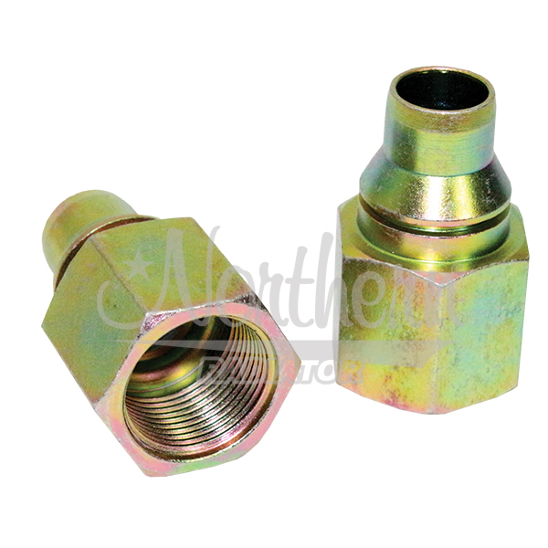 RW8076 GM / Workhorse Chassis Steel Oil Cooler Adapter - 5/8 Qc x 7/8-18 Unf (2 Pk)