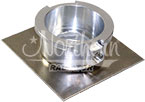 Z17613 Filler Neck - Aluminum Square Flanged Fill Neck