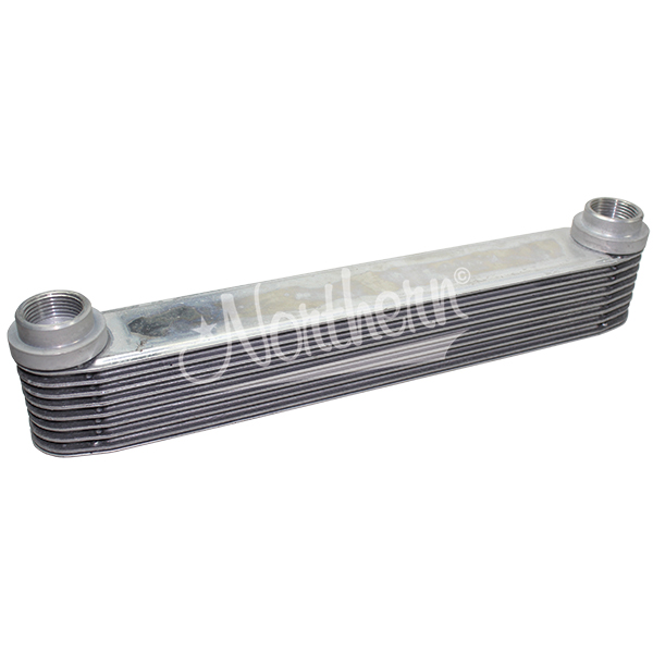 "Z18039 Super-Flow 8 Plate Aluminum Engine Oil Cooler - 13"" Length"