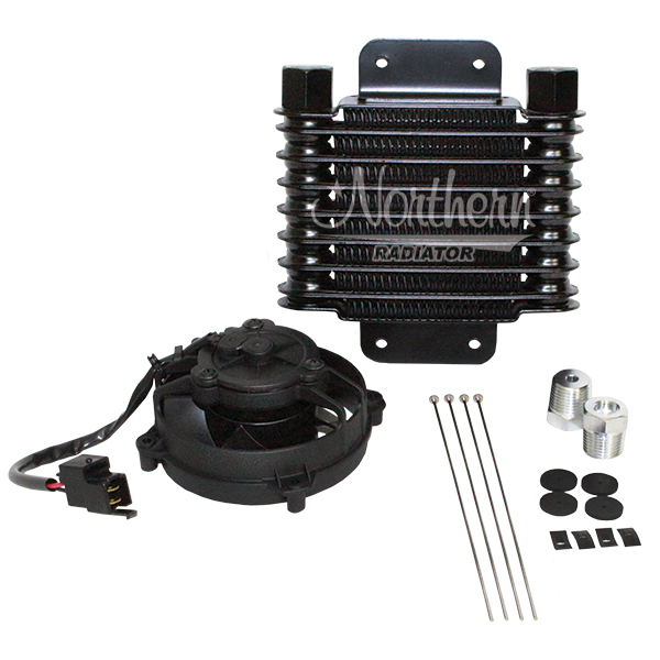 "Z18042 6 3/8 x 6 3/4 Oil Cooler Kit With 4"" Fan"