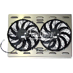 "Z40006 Dual 12"" Electric Fan & Shroud - 17 3/8 x 25 3/4 x 2 5/8"