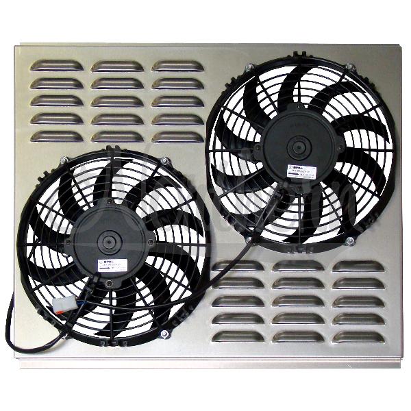 "Z40013 Dual 10"" Electric Fan & Shroud - 17 5/8 x 21 3/4 x 3"