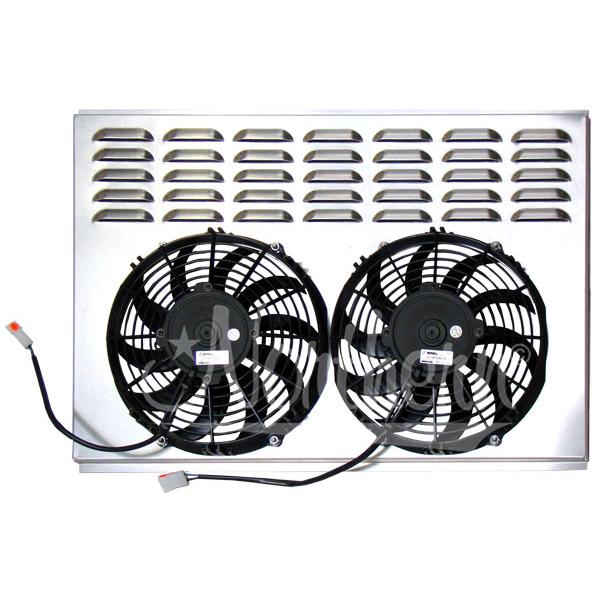 "Z40016 Dual 10"" Electric Fan & Shroud - 17 3/8 x 25 3/4 x 2 5/8"