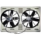 "Z40099 Dual High CFM 12"" Electric Fan & Shroud - 17 1/4 x 28 x 4 1/4"