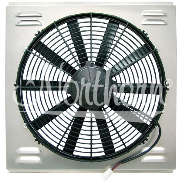 "Z41035 Single High CFM 16"" Electric Fan & Shroud - 18 1/4 x 19 x 4"