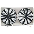 "Z41036 Dual High CFM 16""  Electric Fan & Shroud - 17 1/4 x 33 5/8 x 3 1/8"