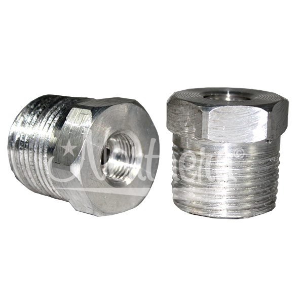 Z50640 Aluminum Adapter For Super-Flow Engine Oil Coolers - 3/4 Npt To 5/16 Inverted Flare 2 Pk