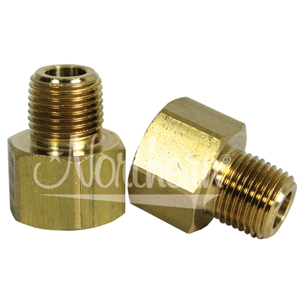 Z80190 Brass Cooler Adapter - 1/8 Npt x 5/16 Inverted Flare