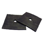 RW0178-43 Square Rubber Mount Pads -3 x 3 3/16 - 2 Pk