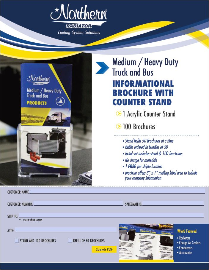 Order Countertop Brochures and Stand