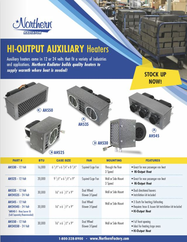 Auxiliary Heaters 2018 Flyer