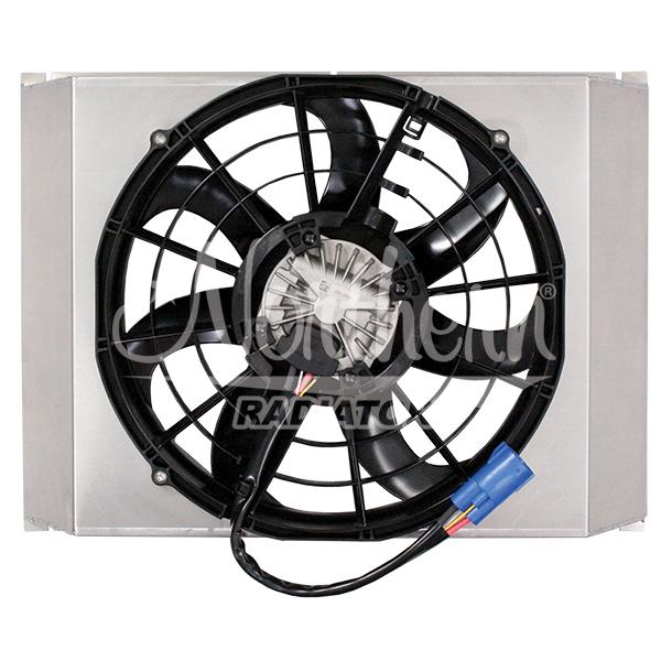 """Z40150 Single 14"""" 500W Brushless Fan & Shroud - 14 7/8 x 22 1/8 x 3 3/8"""