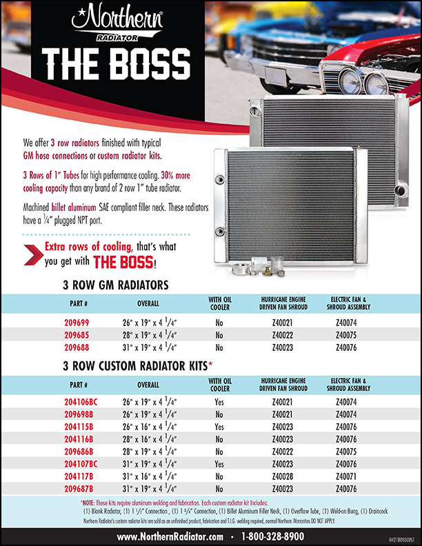The BOSS - True 1 inch 3-row tubes